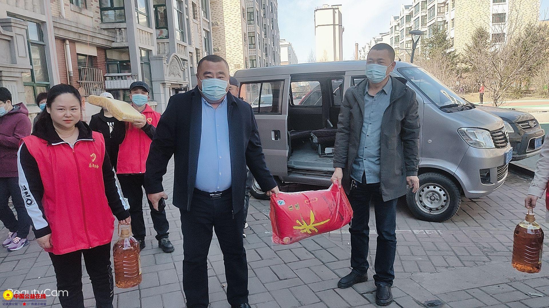 克东县农村公路养护中心携手克东县志愿者协会献爱心