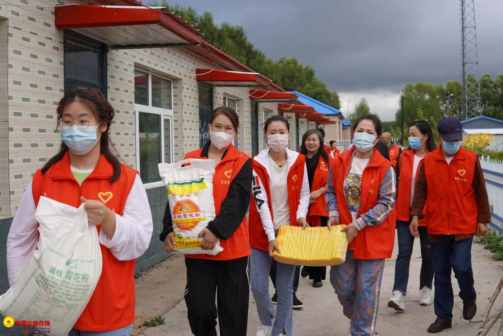 克东县志愿者协会 传递正能量 真情送温暖