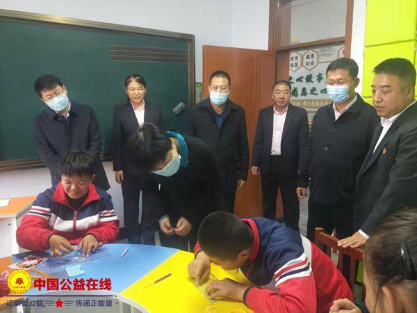 黑龙江省残联领导到克东县特教学校调研指导工作